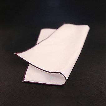 Purple Trim Plain White 100% puuvillaa puku tasku neliö