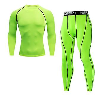 Erkek Kompresyon Tayt Uzun-top Spor Gömlek