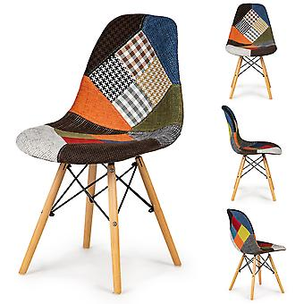 Esszimmerstühle mit Patchwork-Muster – 2er Set