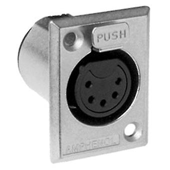 Amphenol 5 Pin Panel Xlr Socket