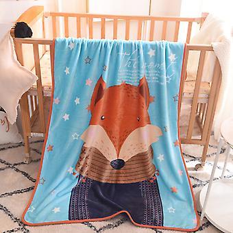 100x140cm Cartoon Cute Babies Children Blanket Throw Kids Pet on Crib Plane Sofa Bed Crib Use