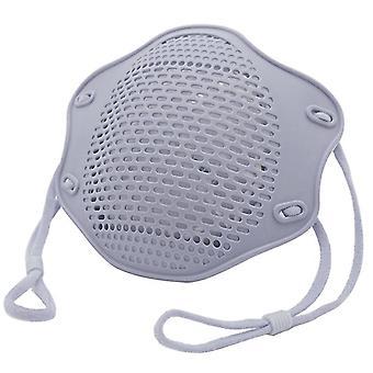 2Kpl harmaa kn95 suoja maski elintarvikelaatuinen silikoni naamio viisikerroksinen suodatin pölysuojamaski az10911