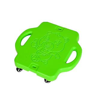 Children's plastic four-wheel outdoor sports scooter(Green)