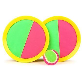 Meloa toss ja catch ball set- 7inch mela saalis pelejä lelu 2 mailat 1 pallo (keltainen)