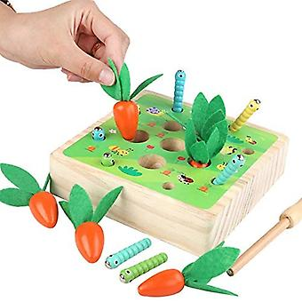 Educational Carrots Harvest Wooden Toy