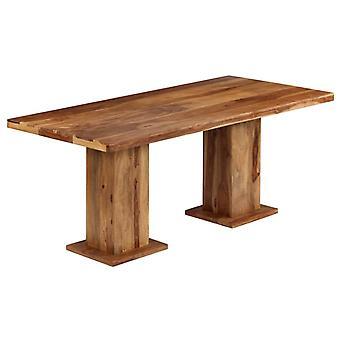 vidaXL ruokapöytä massiivipuu 175 x 90 x 77 cm