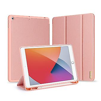 """Case For Ipad 9 10.2"""" 2021 Ultra Thin Smart Leather Cover Case With Pencil Holder & Auto Wake Up/sleep - Pink"""