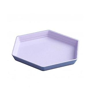 15Pcs Hexagon Party Dessert Snacks Melon Seeds Wheat Straw Thicken Tray Fruit Plate Dishes Lunch Box