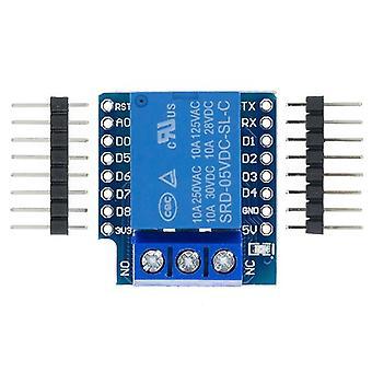 Accesorii circuit un canal wemos D1 mini releu scut wemos D1 mini releu modul pentru esp8266 placa de dezvoltare 1 canal