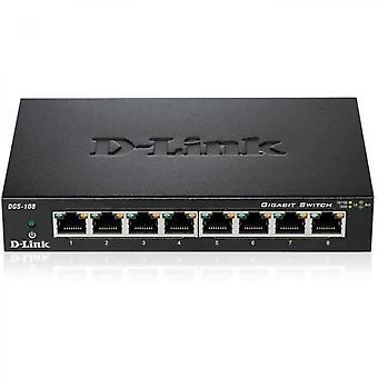 Dgs-108x2 Pack De 2 Switches Gigabit de 8 puertos