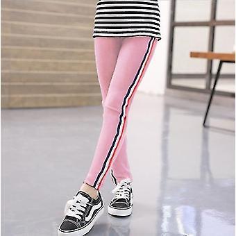 Spring Autumn Kids Leggings Side Striped Elasticity Pants Trousers
