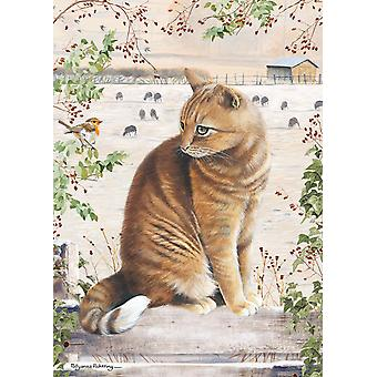 Otter House Christmas Cat Jigsaw Puzzle (1000 Pieces)
