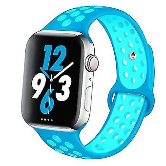 Silicone Wristband Suitable For Apple Watch-breathable Bracelet (set-5)