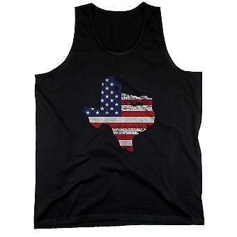 Valtion USA lippu miesten Hihaton toppi Texas Yhdysvaltain lipun säiliöt