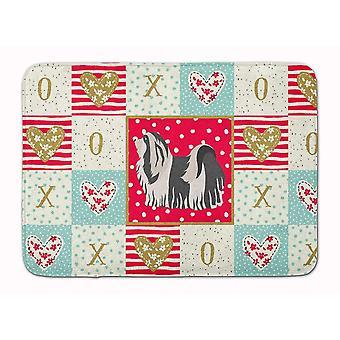 Bath mats rugs carolines treasures ck5841rug havanese #1 love machine washable memory foam mat