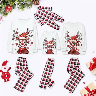 Erwachsene Familie Passende Weihnachtspyjamas Weihnachten Nachtwäsche Pyjamas Pjs Festliches Set