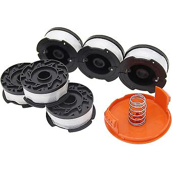 Thread Spools Black & Decker Trimmer Spool (8pcs Thread Spools,1 Coil Cover,1 Spring)