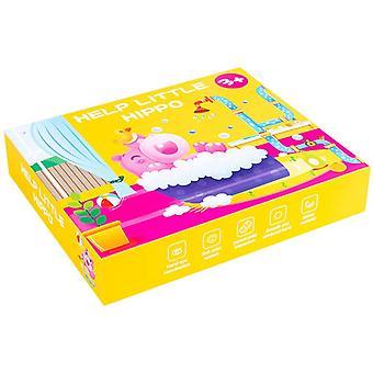 Hippo Bath Jigsaw, puinen koulutus palapeli ajattelu logiikka lelut lahjat