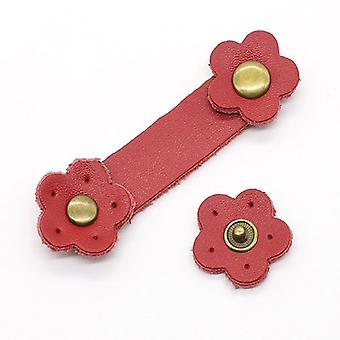 Soft Leather Buckles Purse Hasp Diy Bag Wrist Strap Plum Flower Tool For Sewing Craft Project