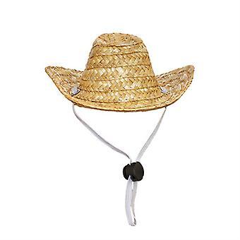 Yesfit Lemmikkieläinten tarvikkeet Lemmikki kissa Western Cowboy Hattu Olki Cowboy Hattu