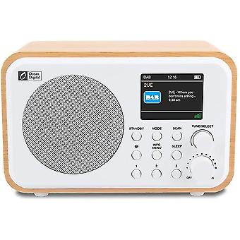 """Ocean Digital Portable Dab + / Dab / FM Digital Radio with Rechargeable Battery, 2.4 """"Color Display,"""