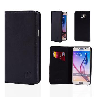32nd Classic Real Leather Wallet for Samsung Galaxy S6 G920 - Black