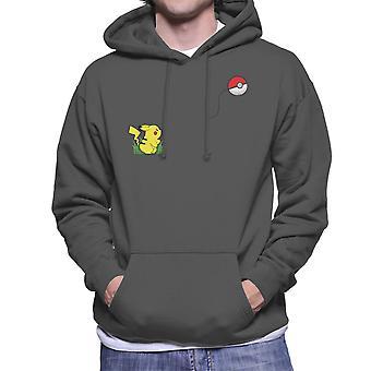 Pokemon Banksy Pikachu Pokeball Heart Balloon Men's Hooded Sweatshirt