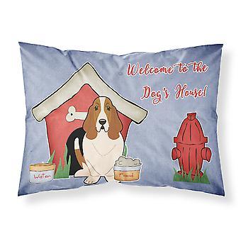 Dog House Collection Basset Hound tissu taie d'oreiller Standard
