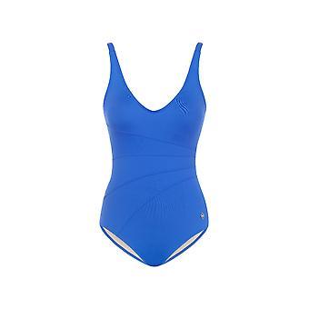 Seaspray SY007064 vrouwen blauwe effen kleur kostuum een stuk zwembroek