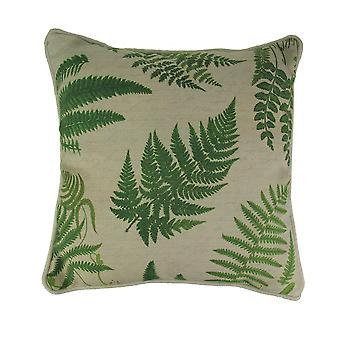 Tropenfarn Blatt drucken Leinenoptik Throw Pillow