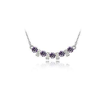Womens Light Purple Pendant Necklace