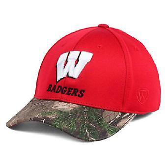 Wisconsin texugos NCAA TOW região Camo estiramento chapéu cabido