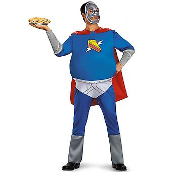 Tarte Man le Simpsons Superhero Homer Cartoon drôle adulte Costume de Mens Plus XXL