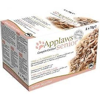 Applaws chat étain alimentaire Senior Multi Pack 6x70g (Pack de 4)