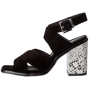 Sol Sana Womens whitney heel Suede Open Toe Casual Slingback Sandals