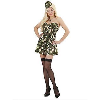 Dziewczyna w armii (gorset spódnica kapelusz)