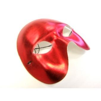 Half Face Red Metallic Eye Mask (1)