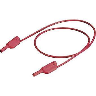 Stäubli SLK205-K/SIL Sikkerhedsprøveledning [Banandonkraft 2 mm - Bananstik 2 mm] 45,00 cm Sort