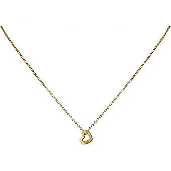 Pendentif de coeur - collier - 1,1 cm - 925 argent - or - plaqué dames-