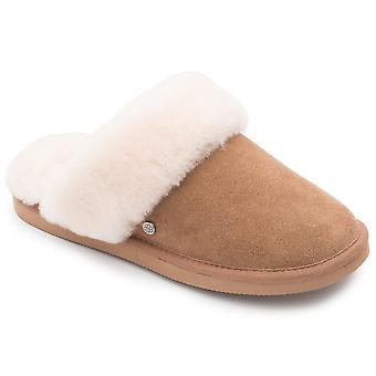 Padders Cosy Womens Sheepskin Lined Mule Slippers