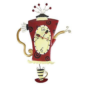 Allen Designs `Steamin` Tea` Teapot Pendulum Wall Clock