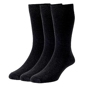 HJ Hall 3 Pack Plain Knit Classic Cotton - Charcoal