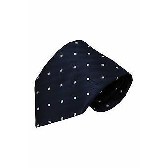 Blauwe zijden stropdas Sacile 01