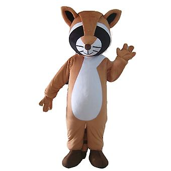 SPOTSOUND tricolor, Brown, black and white raccoon mascot