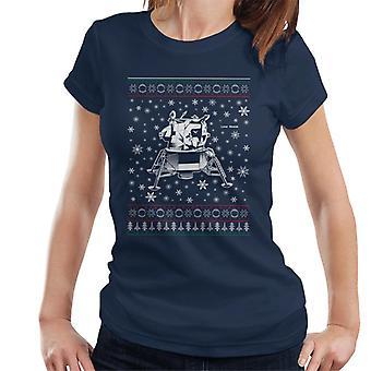NASA Apollo Lunar Module Christmas Knit Pattern Women's T-Shirt