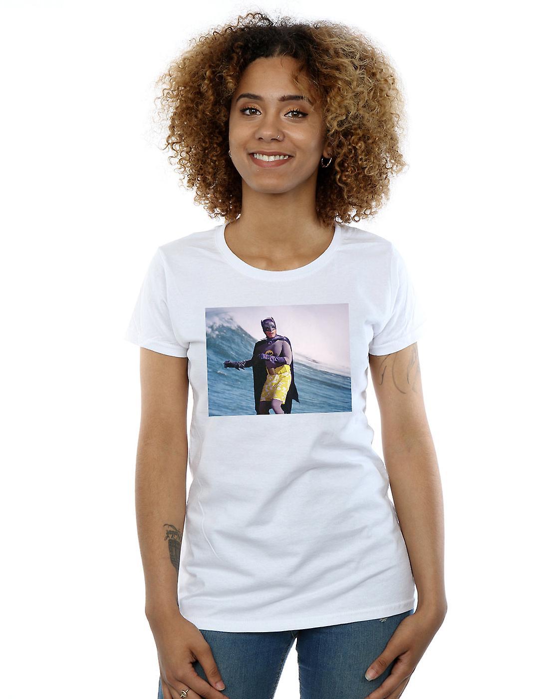 DC Comics Women's Batman TV Series Surfing Still T-Shirt