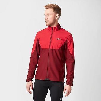 New Gore Men's R5 Gore Windstopper Light Long Sleeve Shirt Red
