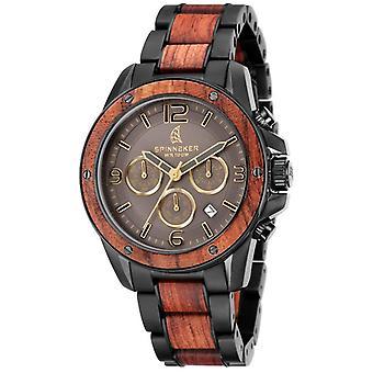 Spinnaker Wood Vessel Watch - Black/Brown