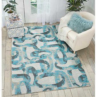 Orgánica moderna OM004 medianoche rectángulo Teal alfombras modernas alfombras