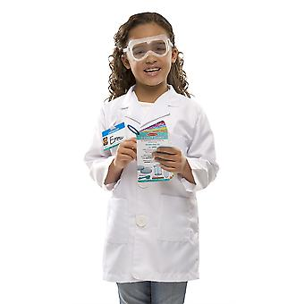 Childrens Melissa and Doug Scientist Fancy Dress Costume Age 5-8